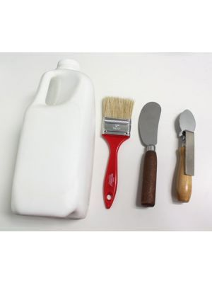 Padding Kit: Jug of Glue, Padding Spoon, Padding Knife and Padding Brush
